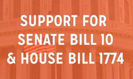 Support for Senate Bill 10