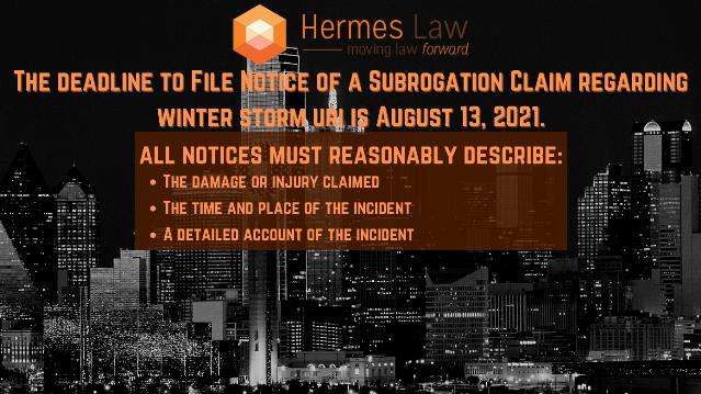 Important Notice Regarding ERCOT and Winter Storm Uri